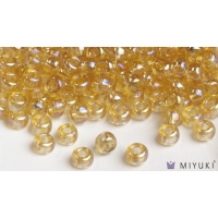 Miyuki 8/0 Glass Beads 251 - Transparent Pale Gold AB approx. 30 grams