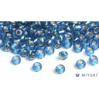 Miyuki 6/0 Glass Beads 25 - Silverlined Capri Blue approx. 30 grams