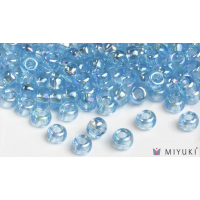 Miyuki 6/0 Glass Beads 260 - Transparent Light Blue AB approx. 30 grams