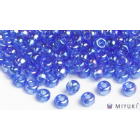 Miyuki 6/0 Glass Beads 261 - Transparent Cornflower AB approx. 30 grams