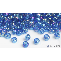 Miyuki 6/0 Glass Beads 291 - Transparent Capri Blue AB approx. 30 grams