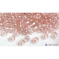 Miyuki 6/0 Glass Beads 292 - Transparent Pale Pink AB approx. 30 grams