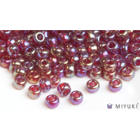 Miyuki 6/0 Glass Beads 298 - Transparent Ruby AB approx. 30 grams