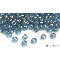 Miyuki 6/0 Glass Beads 305 - Lake Blue Gold Luster approx. 30 grams