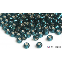 Miyuki 8/0 Glass Beads 30 - Silverlined Dark Teal approx. 30 grams
