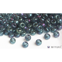 Miyuki 6/0 Glass Beads 314 - Capri Blue Gold Luster approx. 30 grams