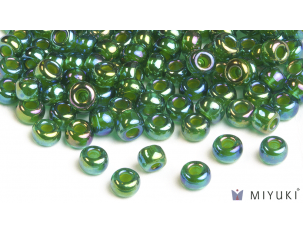Miyuki 6/0 Glass Beads 354 - Chartreuse-lined Green AB approx. 30 grams