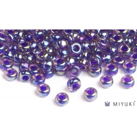 Miyuki 8/0 Glass Beads 356 - Purple-lined Amethyst AB approx. 30 grams
