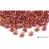 Miyuki 6/0 Glass Beads 363 - Cranberry-lined Topaz AB approx. 30 grams