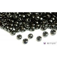 Miyuki 6/0 Glass Beads 401 - Opaque Black approx. 30 grams