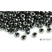 Miyuki 6/0 Glass Beads 464 - Opaque Luster Black approx. 30 grams