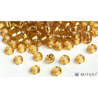 Miyuki 6/0 Glass Beads 4 - Silverlined Gold approx. 30 grams