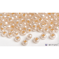 Miyuki 6/0 Glass Beads 516 - Pale Gold Ceylon approx. 30 grams