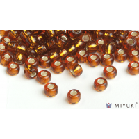 Miyuki 6/0 Glass Beads 5 - Silverlined Copper approx. 30 grams
