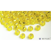 Miyuki 8/0 Glass Beads 6 - Silverlined Yellow approx. 30 grams