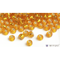 Miyuki 8/0 Glass Beads 7 - Silverlined Light Orange approx. 30 grams