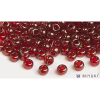 Miyuki 8/0 Glass Beads 304 - Ruby Gold Luster approx. 30 grams