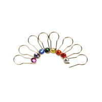 Gold Pins Assorted Colors 16 per set-Crystaletts
