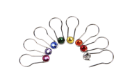Silver Pins Assorted Colors 16 per set-Crystaletts
