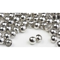 3mm All Metal Stud Buttons - Silver Rhodium 100 pk - Crystaletts