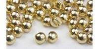 3mm All Metal Stud Buttons - Gold Rhodium 100 pk - Crystaletts