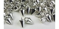 3mm Micro Spike Buttons - Silver Rhodium 100 pk - Crystaletts