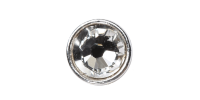 3mm Buttons Crystal with Silver Bezel 100 pk - Crystaletts