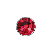 3mm Buttons Light Siam with Silver Bezel 100 pk - Crystaletts