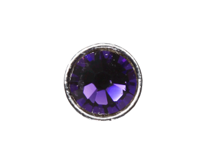 3mm Buttons Purple Velvet with Silver Bezel 100 pk - Crystaletts