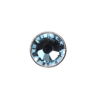 3mm Buttons Aquamarine with Silver Bezel 100 pk - Crystaletts