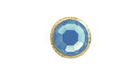 3mm Buttons Aquamarine with Gold Bezel 100pk - Crystaletts