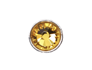 3mm Buttons Sunflower with Silver Bezel 100 pk - Crystaletts