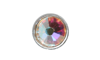 3mm Buttons Crystal AB with Silver Bezel 100 pk - Crystaletts