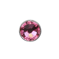 3mm Buttons Rose with Silver Bezel 100 pk - Crystaletts