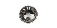 3mm Buttons Black Diamond with Silver Bezel 100 pk - Crystaletts