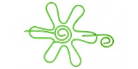Nirvana Daisy Shawl Pin - Lime