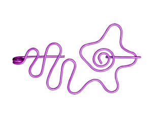 Nirvana Flower Shawl Pin - Purple