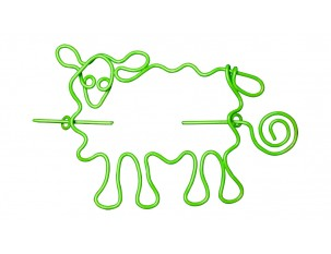 Nirvana Sheep Shawl Pin - Lime