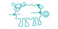 Nirvana Sheep Shawl Pin - Light Blue