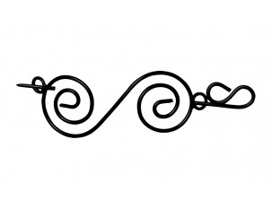 Nirvana Swirl Shawl Pin - Black