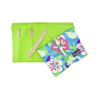"Nirvana 6"" Mango Double Pointed Sock Gift Set with 7"" Needle and Hook Case"