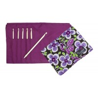 "Nirvana Bone Crochet Hook Gift Set with 7"" Needle and Hook Case"