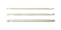 "4"" Bone Double Ended Crochet Hooks - Pack of 3 - Nirvana"